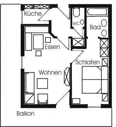 Ferienwohnungen Im Gschwendtnerhof   Grundriss Wohnung Nr. 16